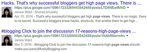 #Bloggers can get on the first page of #Google