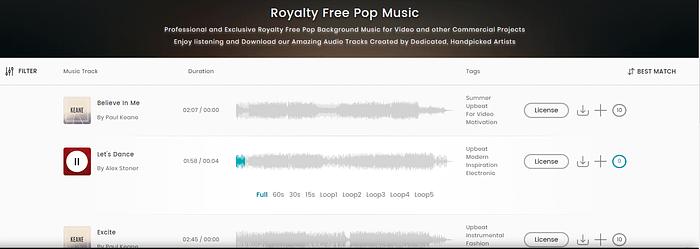 Royalty-free music: TakeTones