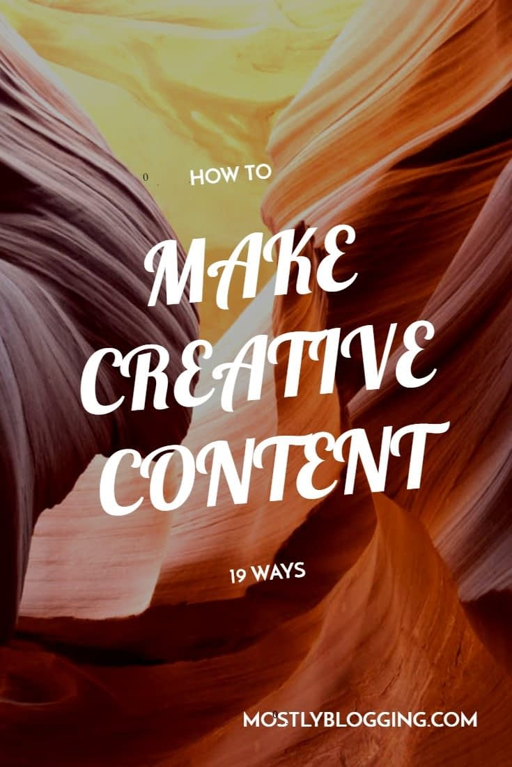 How to make a creative post