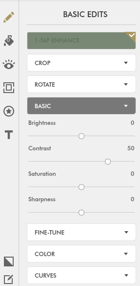 Fotor has many choices available for basic #PhotoEditing