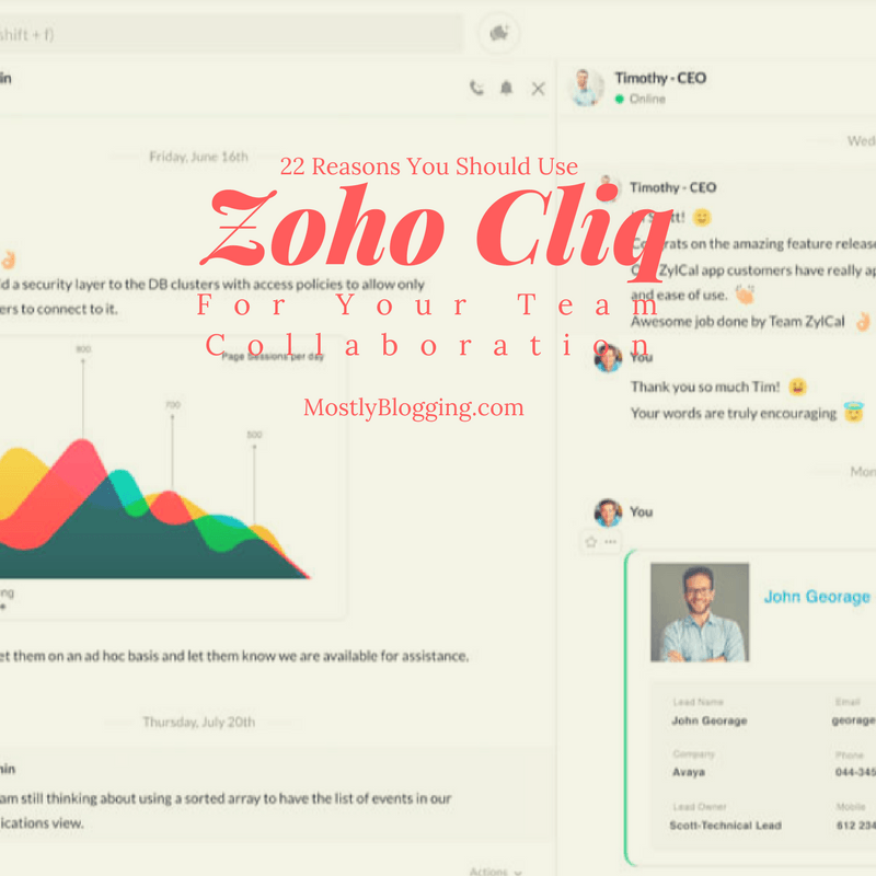 Zoho Chat is your best choice for a chat tool