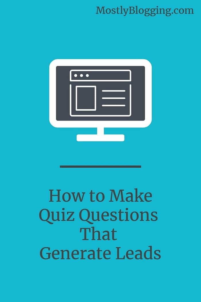 How to use quiz questions to improve lead generation
