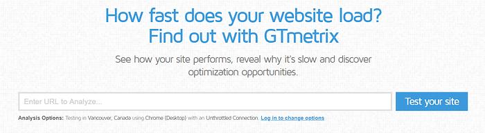 website terminology GTMetrix