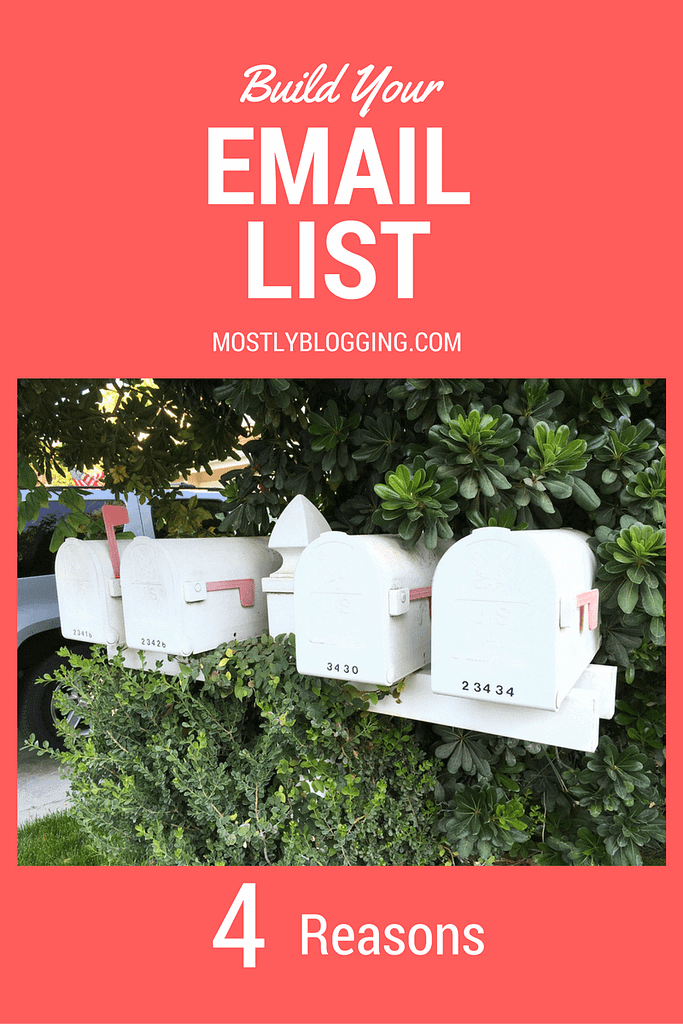 #Bloggers should build an Email list immediately