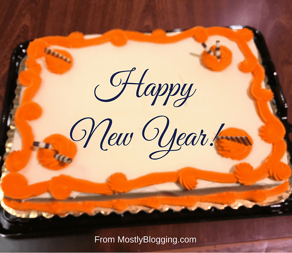 Happy New Year Blog Party Cake