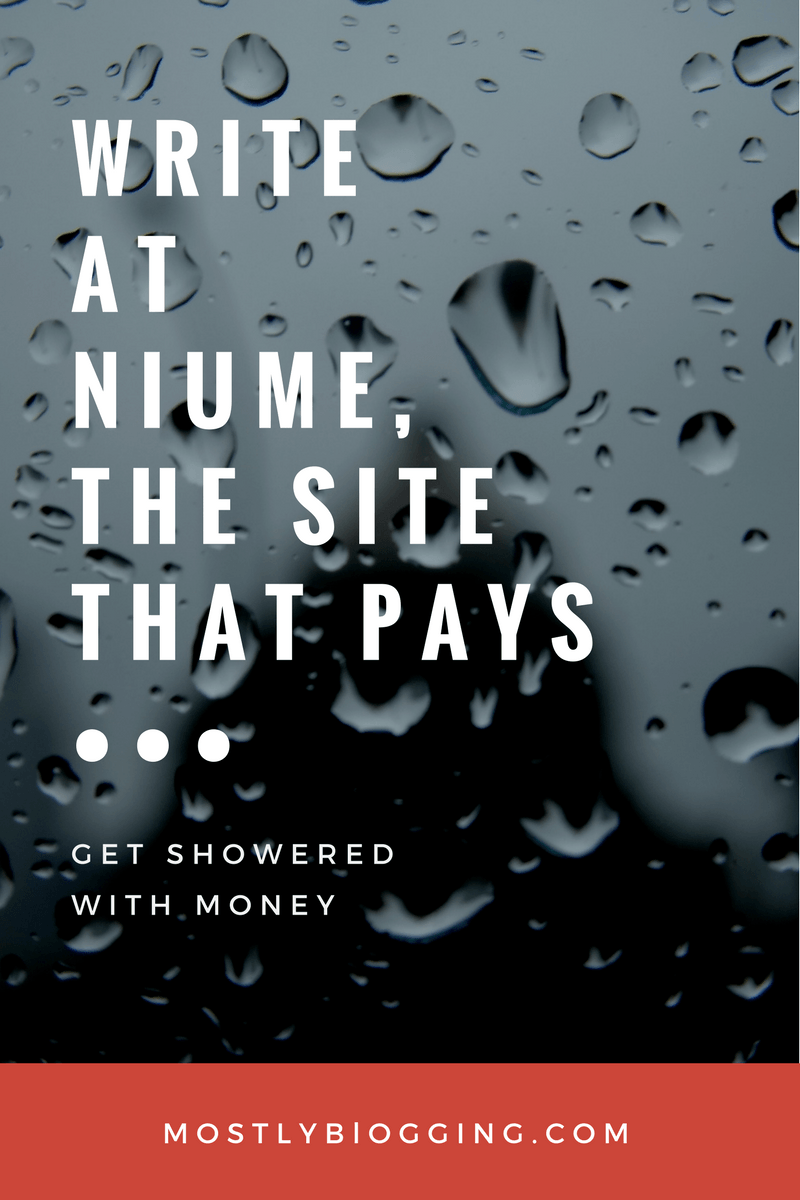 Are you a #blogger or #writer? Get paid to write at Niume