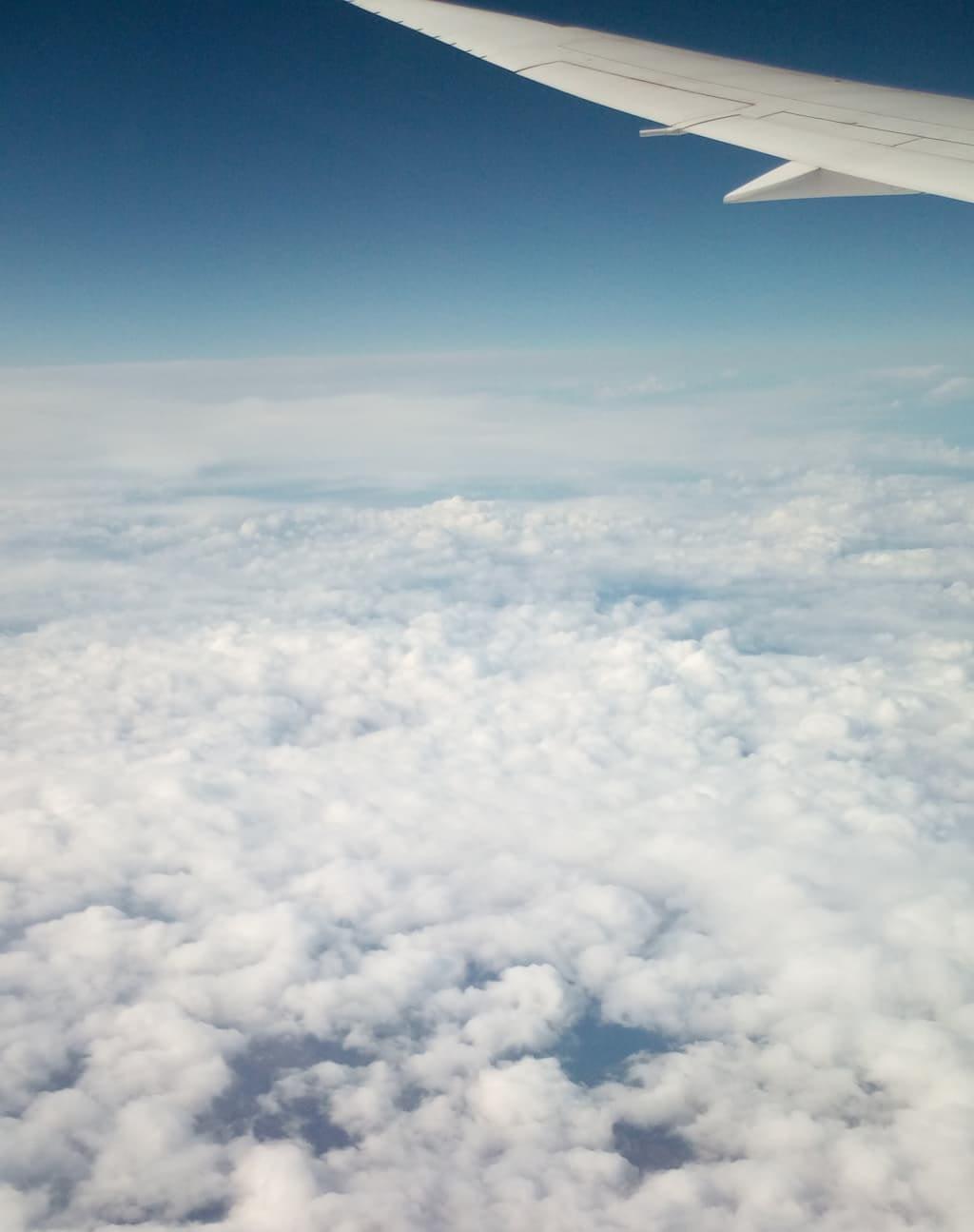 coronavirus travel above the clouds
