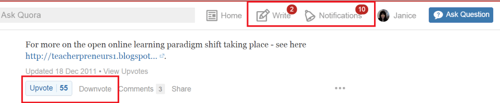 Quora Enables You to Be a User or an Expert.