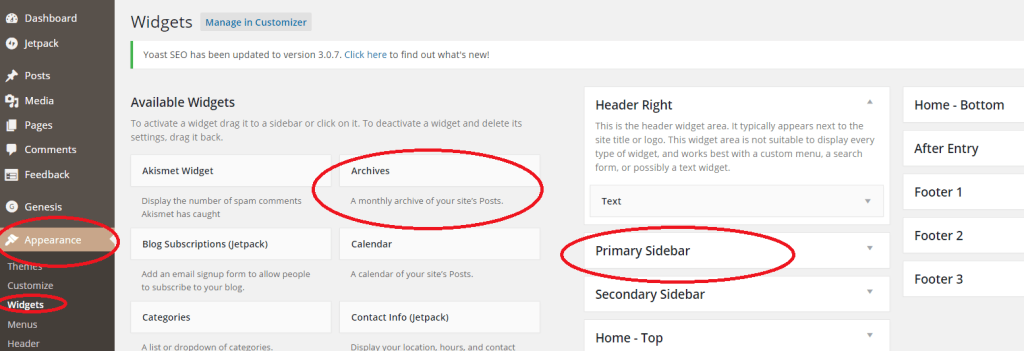How to add widgets to WordPress