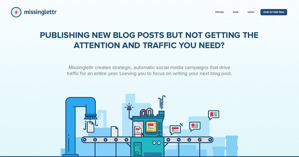 Missinglettr helps bloggers
