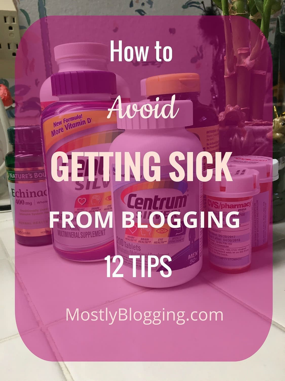 You can be a healthy blogger by following these 12 tips