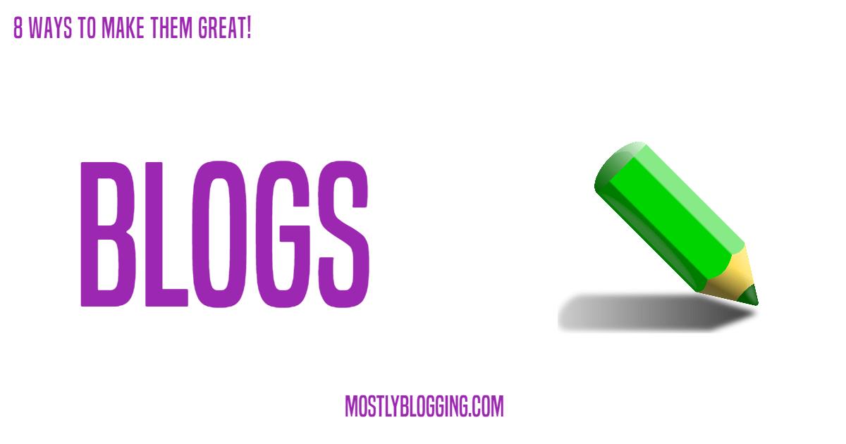 8 criteria for lucrative personal blogs