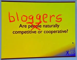 Are bloggers competitive?