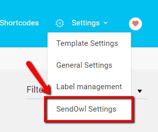 sendowl settings