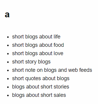 Short blogs: Lengthen with Answer the Public.