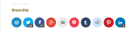Share #blogs on #socialmedia with these social sharing buttons.