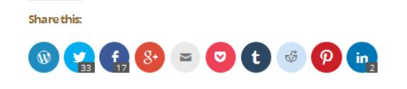 Social Sharing Buttons Screenshot 2