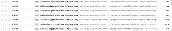 Instagram sponsorship Activate