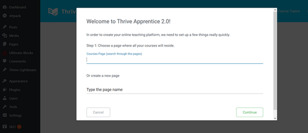 welcome to Thrive apprentice: create-online-course-wordpress