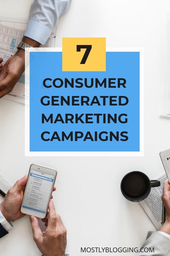 Consumer generated marketing