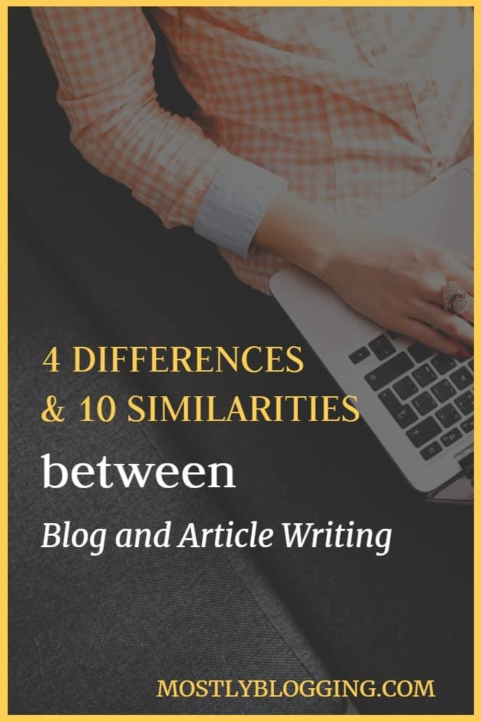 difference between blog and article writing