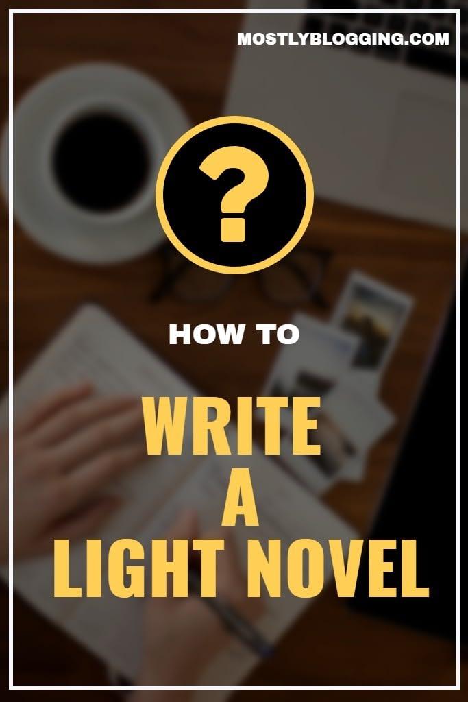 How to write a light novel