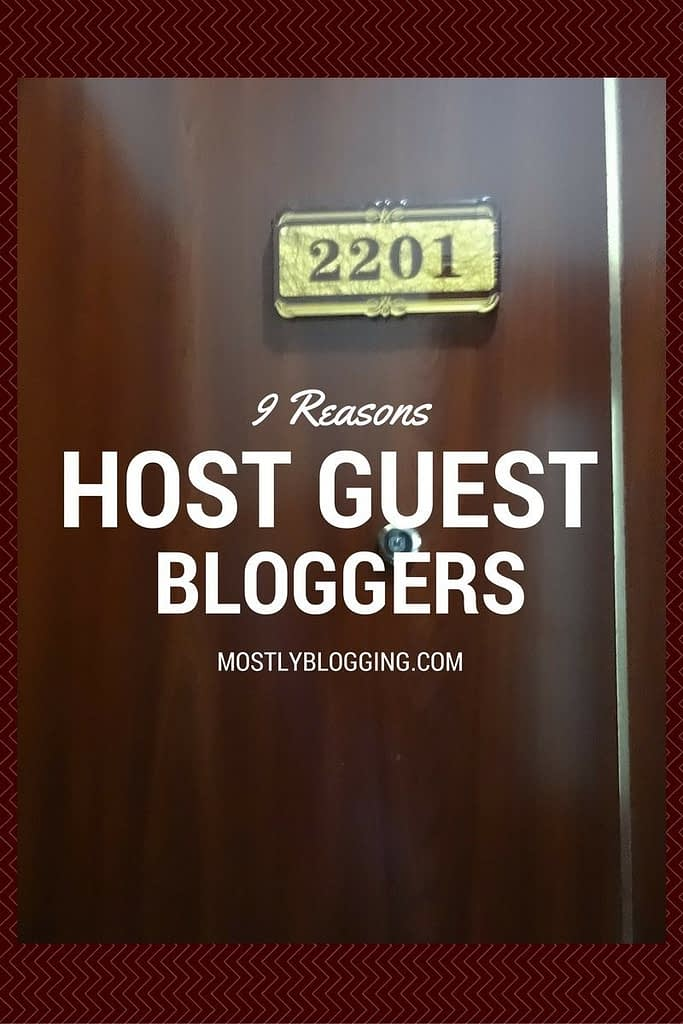 Offering guest blogging opportunities are important for content creators