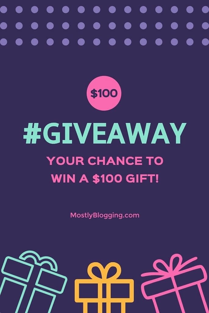 Mostly Blogging is holding a giveaway