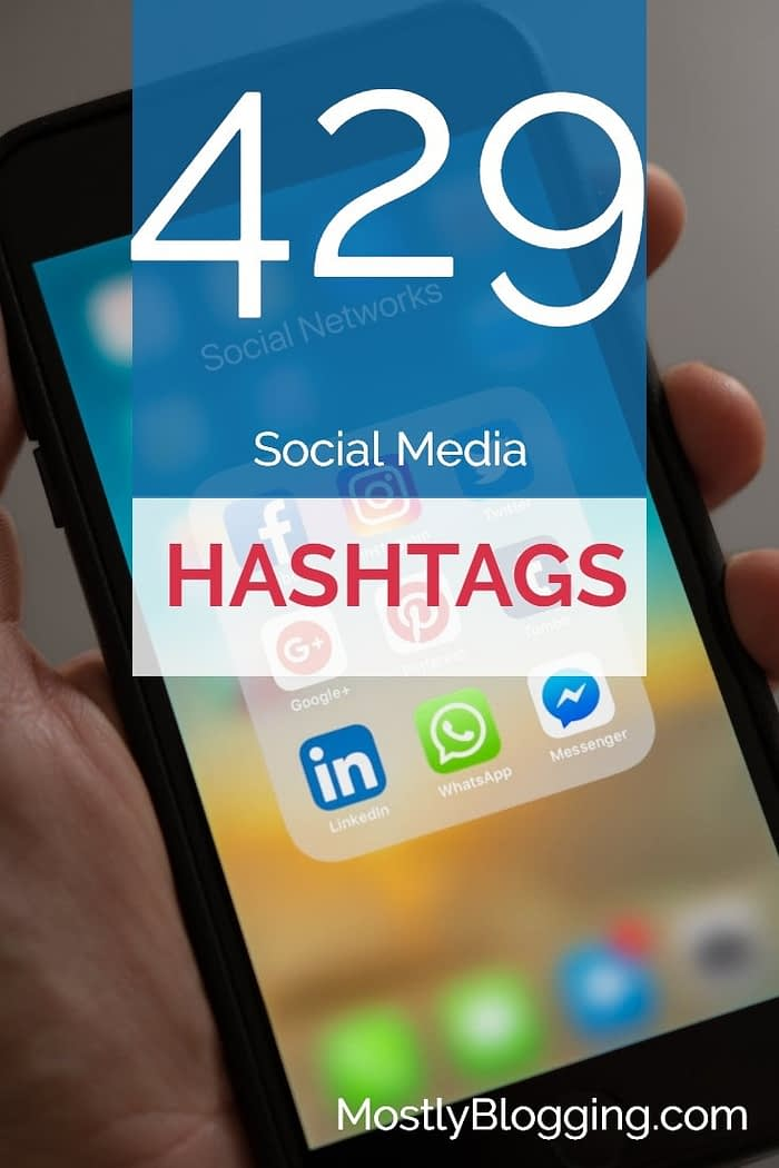 blogger hashtags