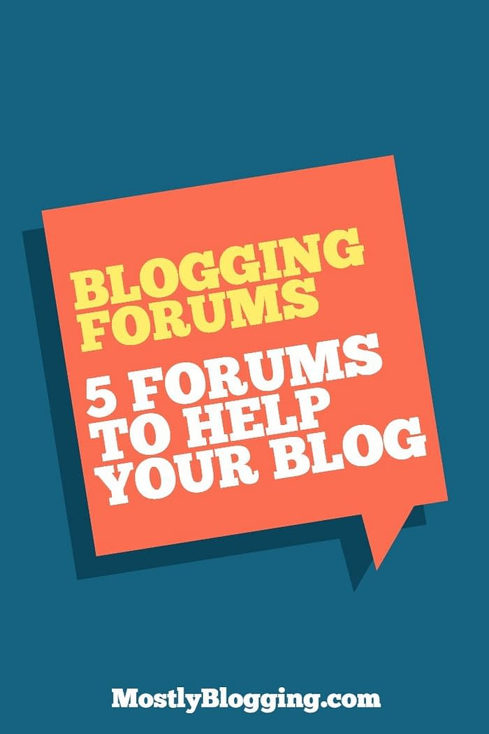 blogging forums