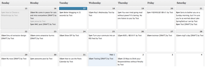 Content Management Strategy editorial calendar