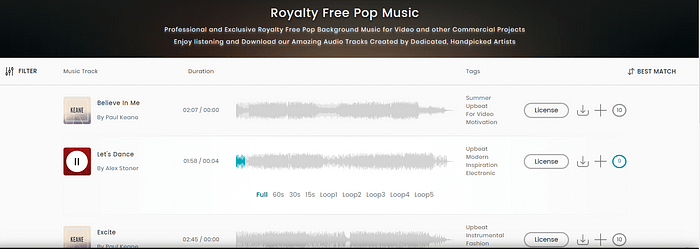 Royalty-free music: TakeTones