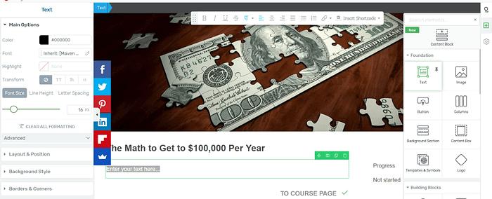 Edit lesson: Online Course WordPress