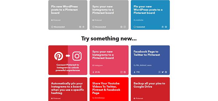 Is Pinterest social media IFTTT