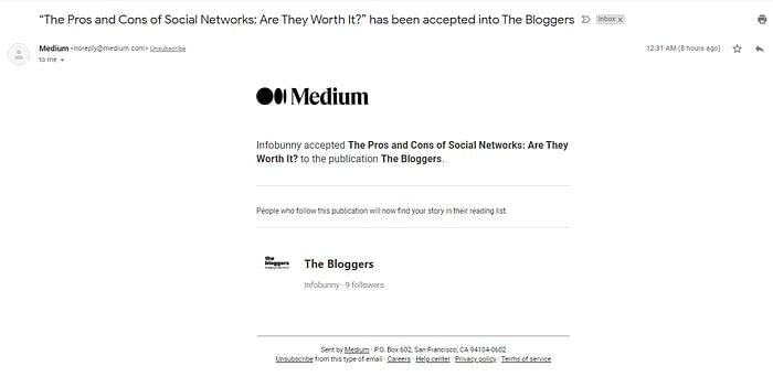 writing on Medium