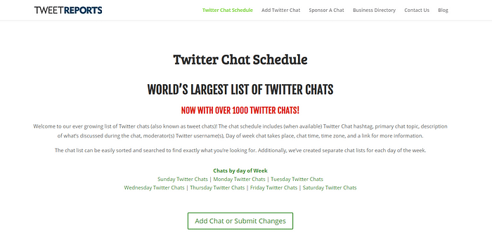 blogging forums Twitter chats