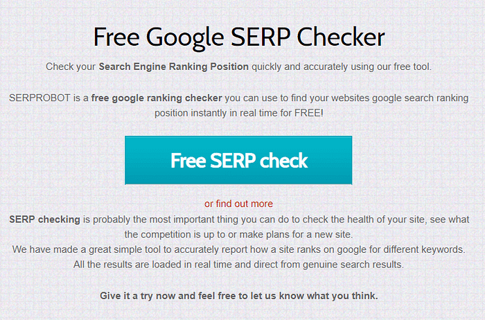 How to use SERPRobot to check your Google rankings