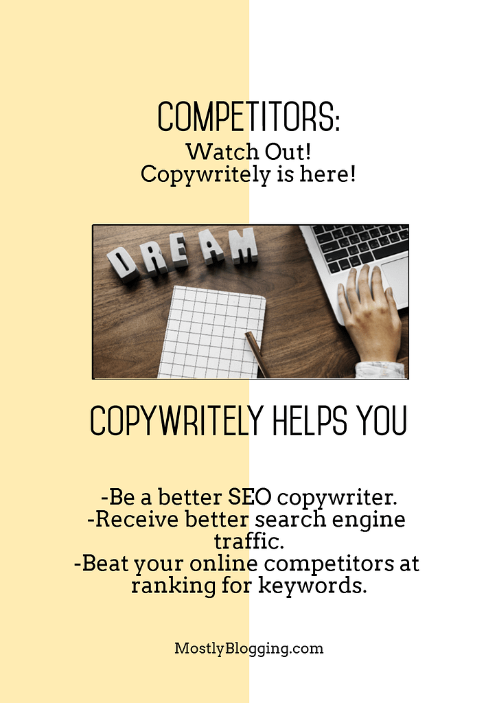 Copywritely helps you rank on Google..