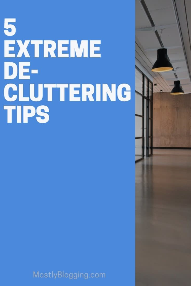 extreme decluttering