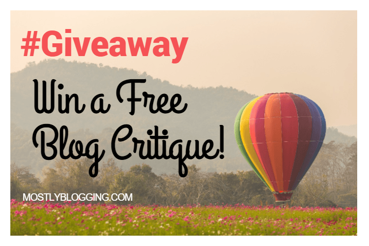 Giveaway: Free Blog Critique