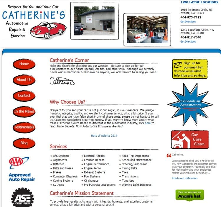 catherines auto repair