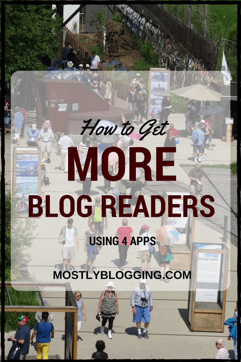 #Apps help bloggers get more blog readers.