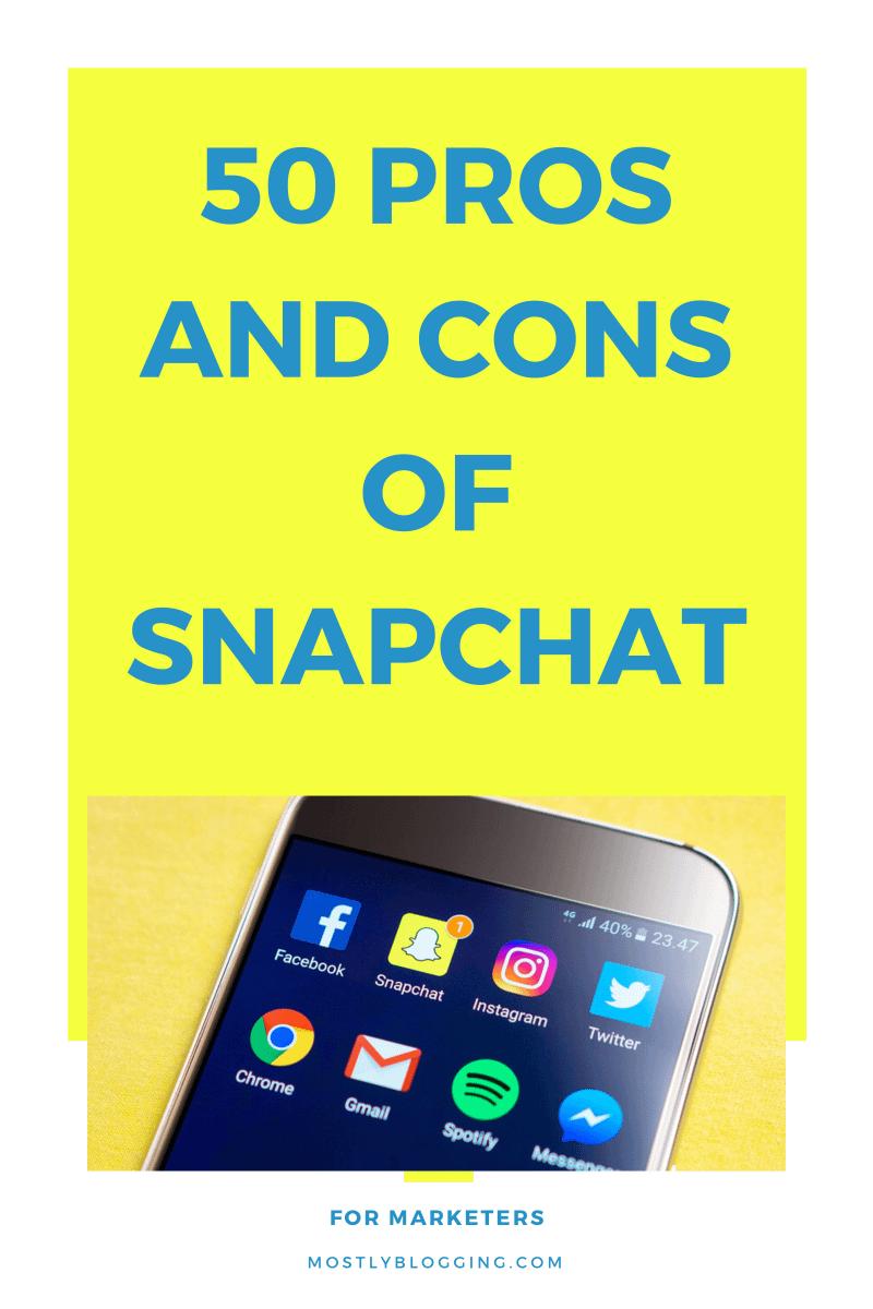 cons of Snapchat