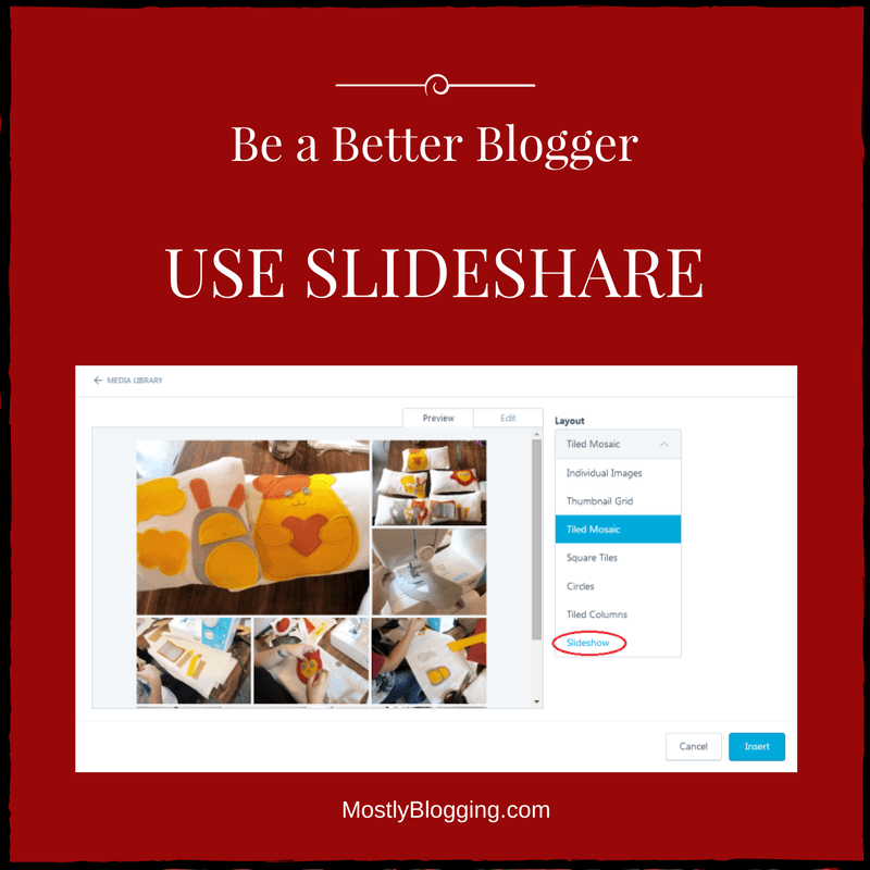 Bloggers should use #Slideshare, a presentation tool