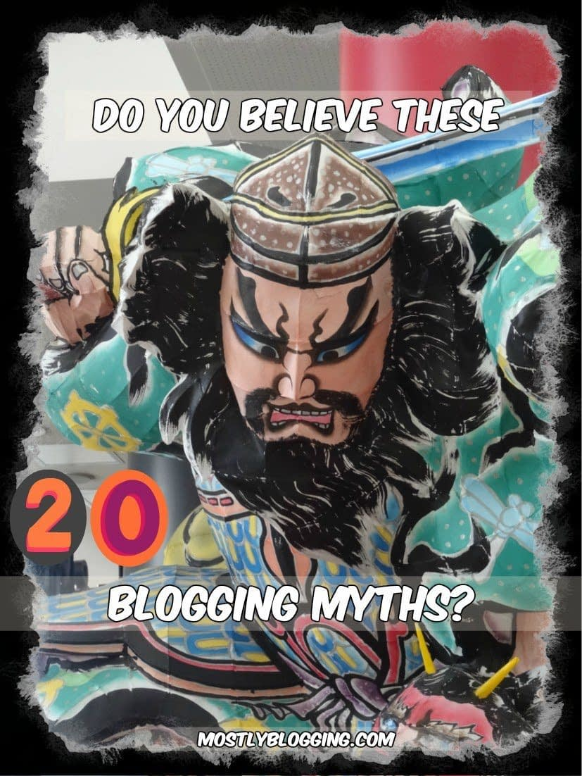 Bloggers should not believe these bligging myths.