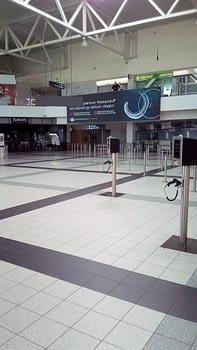 Budapest airport emptiness